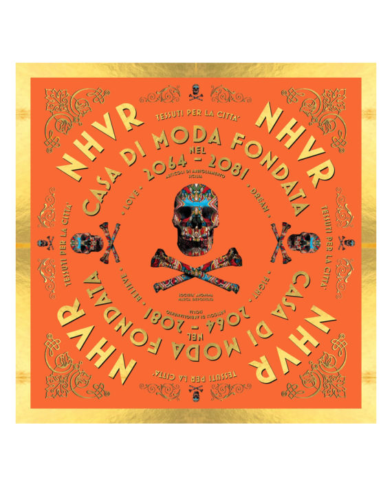 Nhvr-Skull-Foulard-Orange