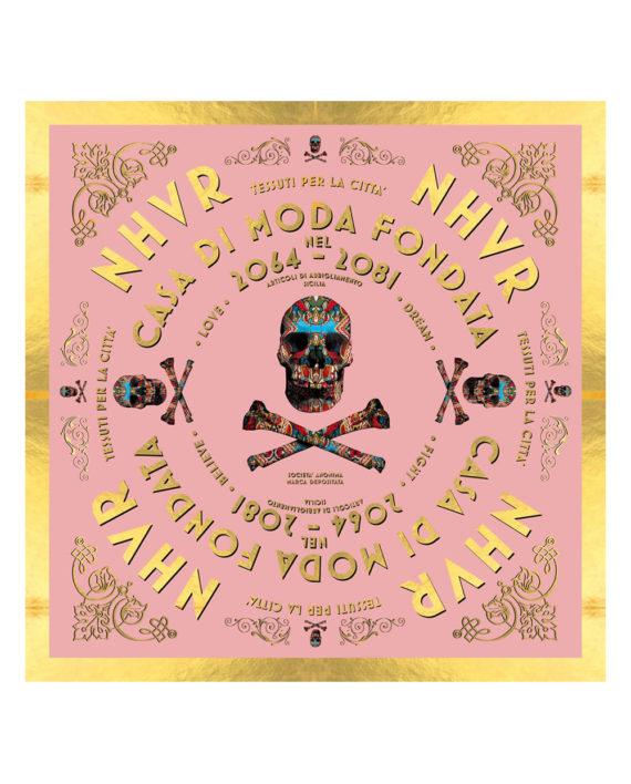 Nhvr-Skull-Foulard-Pink